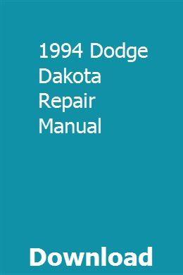 1994 Dodge Dakota Repair Manual Repair Manuals Chilton Repair Manual Owners Manuals