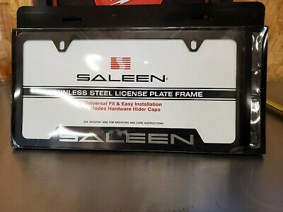 Details About Saleen Stainless Steel License Plate Frame Black