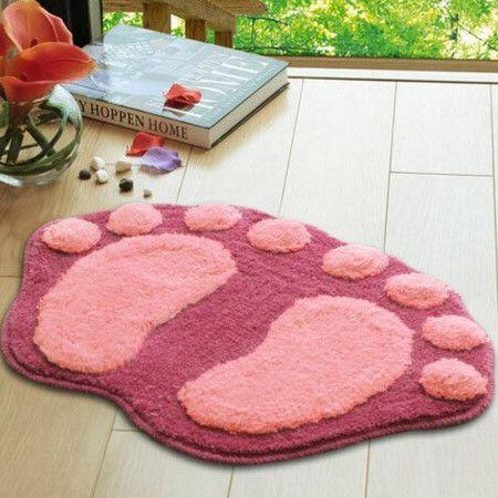 Feet Printing Anti Slip Floor Mat