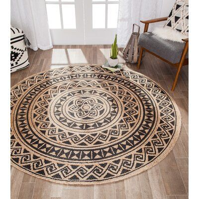 Bungalow Rose Messick 4 Screen Print Hand Braided Multicolor Area Rug Rug Size Round 8 Area Rugs Circular Rugs Rugs
