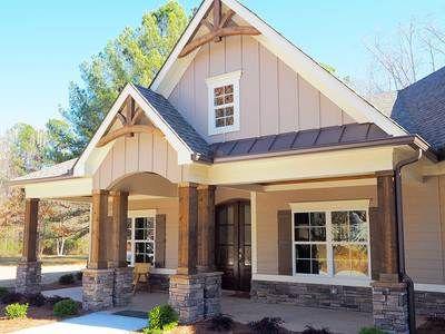 Craftsman House Plan with Angled Garage | Craftsman house ...