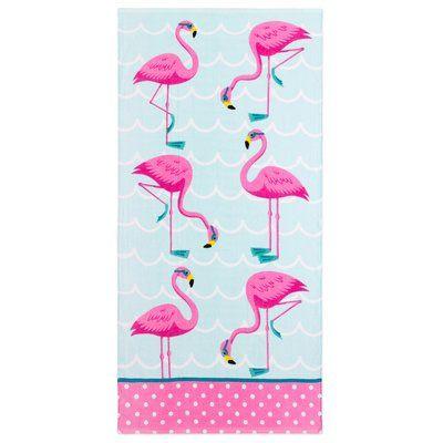 Harriet Bee Allan Flamingos 100 Cotton Beach Towel In 2020
