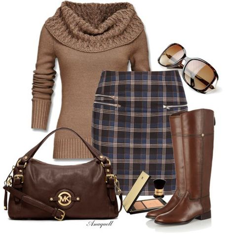 17 Sweater Combination Ideas For Your Closet Really like the cowl necked sweater and the skirt, thought it might be a tad short.