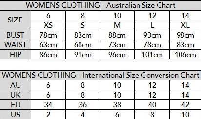 Us To Australian Clothing Size Conversion Charts In 2020 Dress Size Chart Baby Clothes Size Chart Australian Clothing