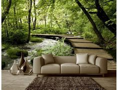 3D Photo Wallpaper Nature Park Tree Murals Bedroom Living Room Sofa TV  Background Wall Mural Wall Paper In Wallpapers From Home Improvement On  Alieu2026