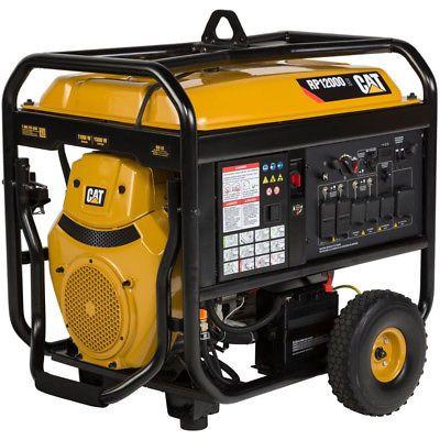 Cat Rp12000 E 12 000 Watt Electric Start Portable Generator 49 State Portable Generator Electric Generator Portable Inverter Generator