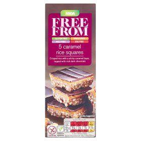 Asda Free From Caramel Rice Squares 2 Vegan Supermarket