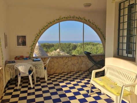 Sea view villa with trullo cones annex Ref: 1579vm, Carovigno, Puglia. Italian holiday homes and investment property for sale.