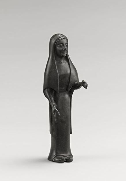 Kore Figure Of Young Woman Provenance Princely Tomb Of Vix Important Piece Probably Manufactured In The Workshops Of Sybaris In Magna Grecia 6th Century