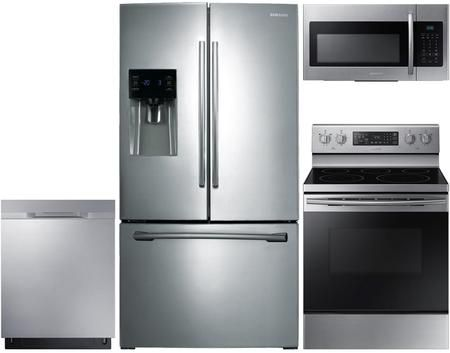 4 Piece Stainless Steel Kitchen Package With Rf263beaesr 36