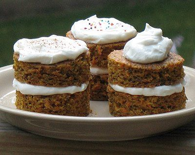 Carrot Cake Towers Diabetic Friendly Amanda S Cookin Low Sugar Recipes Diabetic Desserts Dessert Recipes