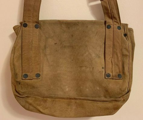 Vtg. WWI WWII USN US NAVY MEDICAL Stencil First Aid Kit Pouch Leather Strap Bag. | eBay