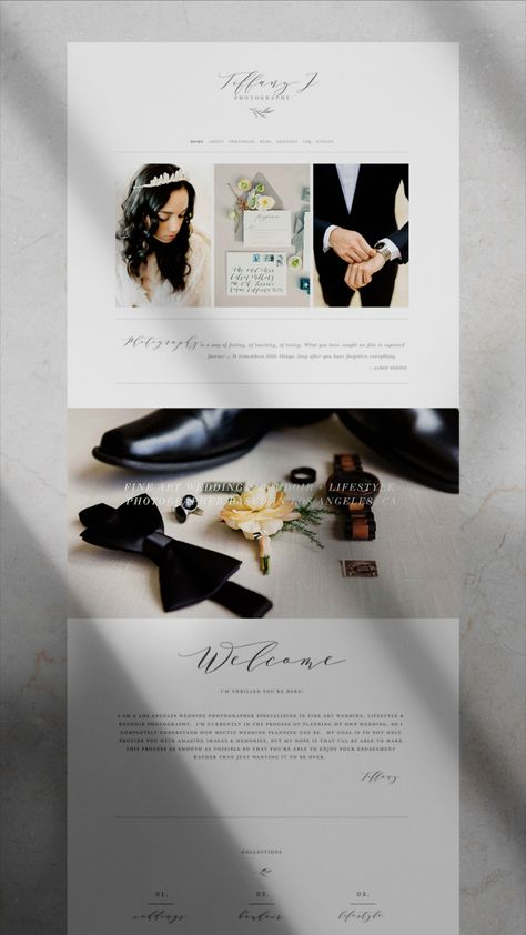 Photographer Squarespace Template Examples
