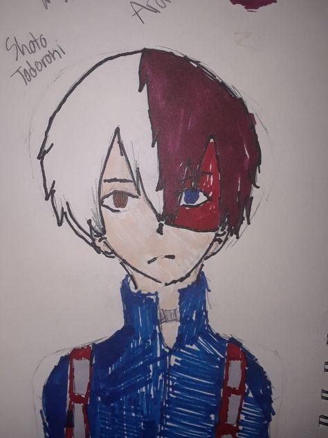 Shoto Todoroki My Hero Academia Drawing By Arai Ruvalcaba