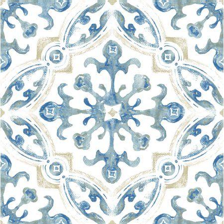 Floorpops Virgin Vinyl Blue Fp3299 Tuscan Peel Stick Floor Tiles Walmart Com Peel And Stick Floor Peel And Stick Vinyl Vinyl Flooring