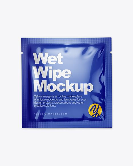 Free Mockups Glossy Wet Wipe Pack Mockup Top View Object Mockups