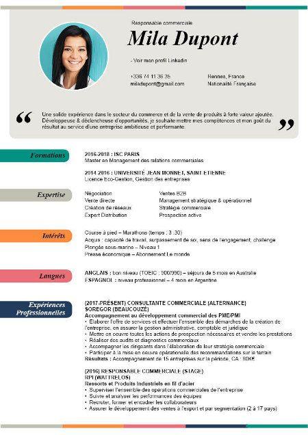 Top 20 Des Cv Les Plus Modernes Et Design En 2019 A Telecharger Cv Commerciale Idee Cv Modele Cv