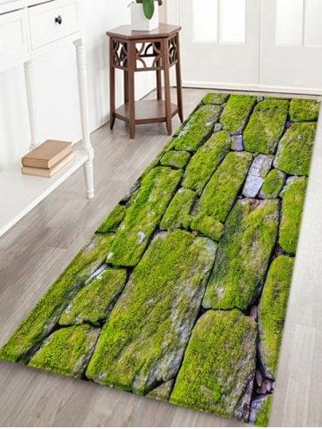 Moss Stone Pattern Printed Floor Mat Floor Mats Rugs On Carpet
