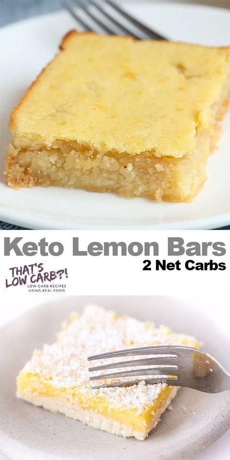 Photo of Keto Lemon Bars Recipe #food #recipes #healthy #dessert #low #carb