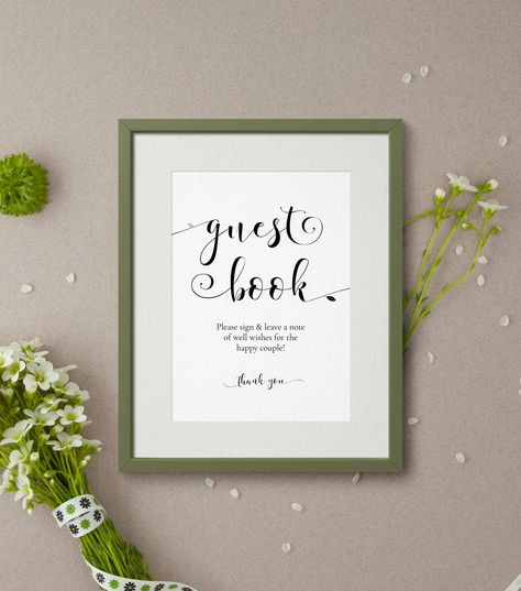 Wedding Guest Book Sign Template Sophie Photo Guestbook Fl Kraft Rustic Editable Diy Ab07 1 By Alicebluefox On Etsy