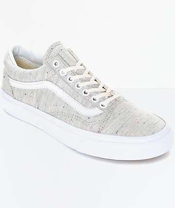 Vans Old Skool Speckle Jersey Grey Womens Shoes | Vans old skool ...