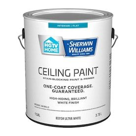 Hgtv Home By Sherwin Williams Ceiling Flat White Interior Paint 1 Gallon Lowes Com In 2020 Best Paint Brand White Interior Paint Paint Brands