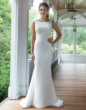 Pin By Bridal Extraordinaire On B E Sweetheart Chic Wedding Dresses Modest Bridal Gowns Crepe Wedding Dress