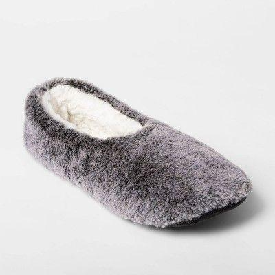 Women's Faux Fur Pull On Slipper Socks
