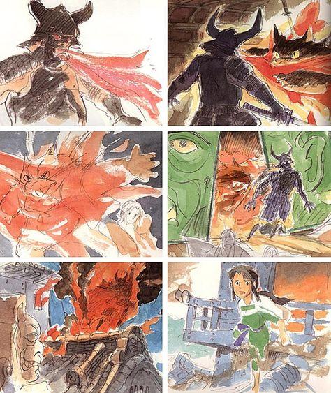 宮崎駿が描いたジブリ映画作品のコンセプト スケッチいろいろ Miyazaki Art Hayao Miyazaki Art Miyazaki