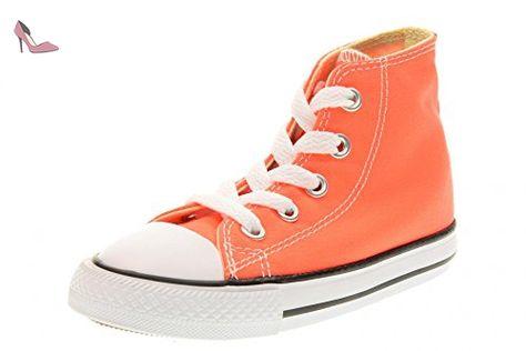 converse enfant orange