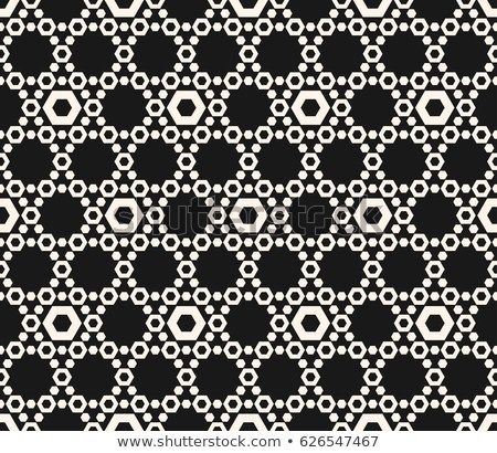 Vector hexagons texture, geometric seamless pattern with