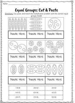 Equal Groups Multiplication Worksheets Multiplication Worksheets Multiplication Free Math Worksheets Make equal groups year worksheet