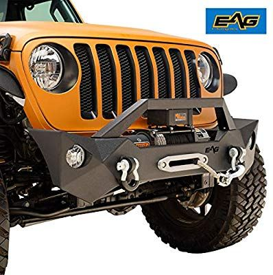 Amazon Com Eag 2018 2019 Jeep Wrangler Jl Front Bumper Black Rock
