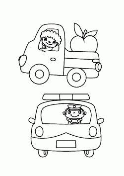 Kamyonet Boyama Sayfasi Araba Boyama Sayfalari Truck Car