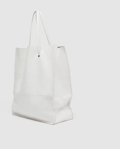 Image 4 Of White Leather Tote Bag From Zara In My Closet