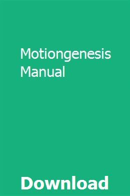 Motiongenesis Manual Books To Read Online Manual Outboard Boat