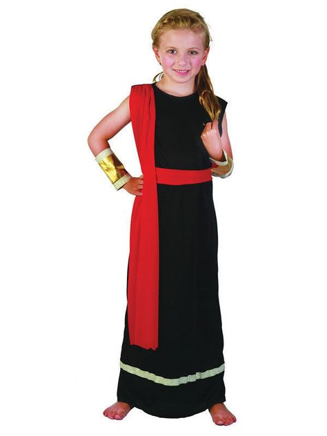 Small Ages 6-8 Venus Roman Goddess Girls Fancy Dress Grecian Toga Greek Childrens Child Costume