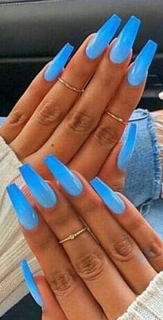 47 Amazing And Cute Ombre Nails Design Ideas For Summer 2019 Part 11 Blue Ombre Nails Ombre Nail Designs Ombre Nails