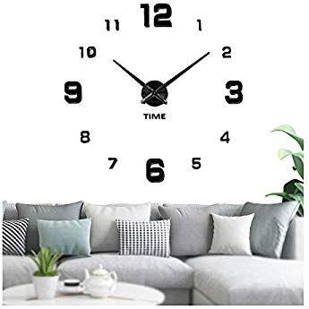 Mini Moderne À faire soi-même Horloge Murale 3D Autocollant Design Home Office Room Decor