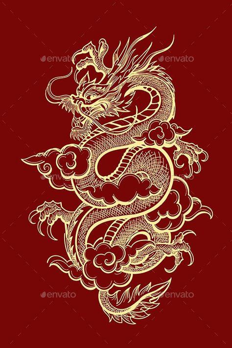 Traditional Chinese Dragon Illustration