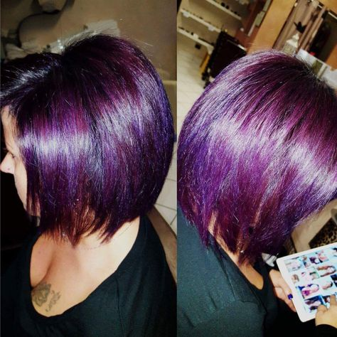 ilovemyjob #capelli #purplehair #purple...