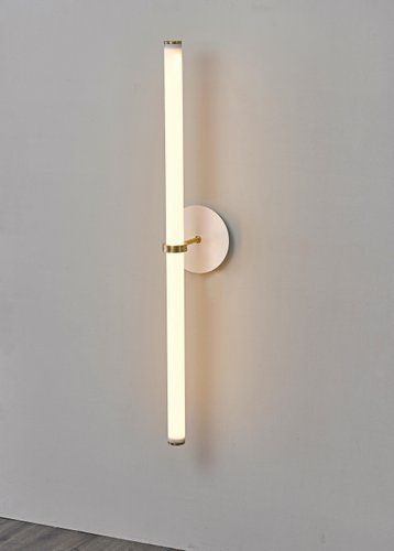 Light Object 014 Is A Wall Lamp Composed Of An Acrylic Tube Brass Components And Led Lights This Object Can Be Ad Wall Lighting Design Wall Lights Wall Lamp