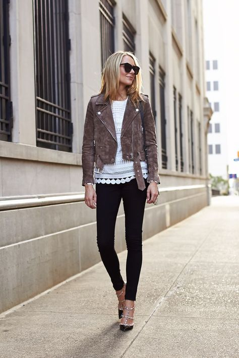 One item that was at the top of my list for fall was a new suede moto jacket. I…