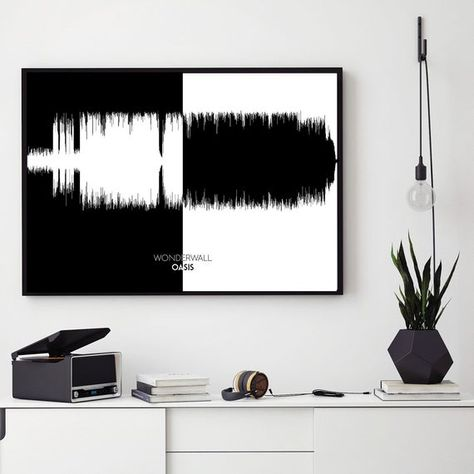 First Dance Oasis /'Wonderwall/' Personalised Framed Song Lyrics Heart Print
