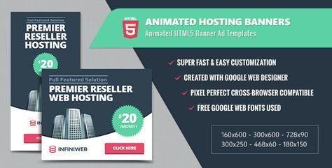 Animated Hosting Banners Html5 Google Web Designer Web Design