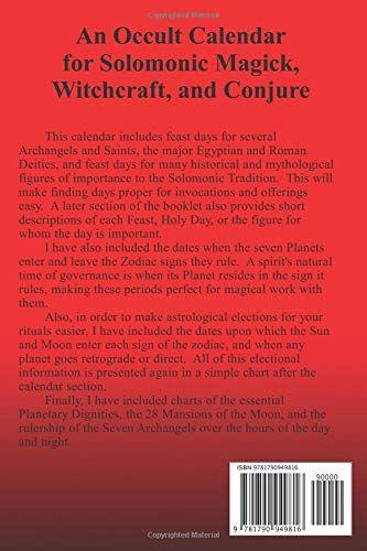 Occult Calendar December 2019 Doc Solomon's Occult Calendar 2019 Paperback ¨C December 8, 2018