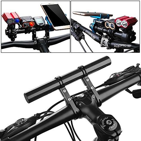 Carbon Fiber Bicycle Bike Handlebar Extender Bracket Mount Phone GPS Holder New