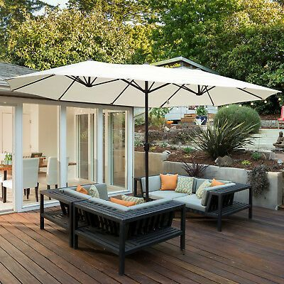 Details About Large Banana Umbrella Patio Parasol Cover Cantilever