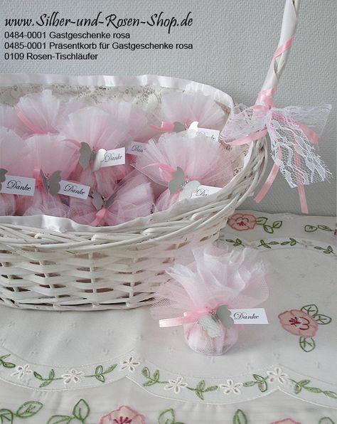 Bomboniere Präsent-Korb leer rosa preiswert bestellen