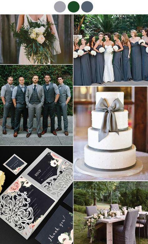 Whimsical, Organic Grey & Green Wedding Inspiration - Janice's wedding - hochzeit